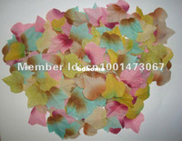 Wholesale 1000 mixed Autumn Fall Silk Leaves Artifical Leaves Foliage Maple Wedding Party Decoration