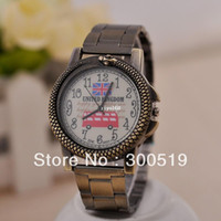 Wholesale JW412 Fashion Vintage Snake Design UK National Flag Watch Face Unisex Watch Brass Wristwatch Retro Clock
