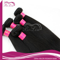 Wholesale Mix length inch Indian Remy Hair Weaves Virgin Hair Extensions Natural Color Straight Queen Hair Products DHL