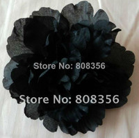 Wholesale Black Artificial Silk Simulation Flower Head Herbaceous Rose Camellia Peony Flowers Wedding amp Christmas Decor cm