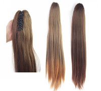 Wholesale EASY DIY Natural Color inch g Remy Human Hair Extensions ponytail hair extention silky straight