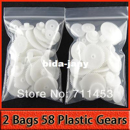 Wholesale 2 Bags Styles M Plastic Gears Gear DIY Toys Accessory Can Be Uesd For RC Toy Robot Parts NON PROFIT
