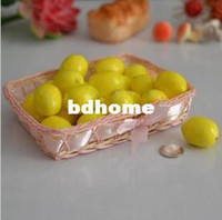 Wholesale artificial fruit foam fake lifelike mini lemon yellow model kitchen cabinet home decoration