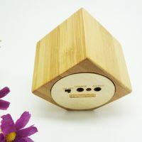 Wholesale Eleco Bamboo Speaker Wood Speaker Mini Audio Speaker mm Jack Rechargeable Music Speaker Portable Mini Phone Mp3 Speaker BW101
