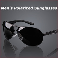 Wholesale Men Alloy Frame Polarzied Driving Sunglasses Anti Ultravoilet Rays Fashion Aviator Sun Glasses