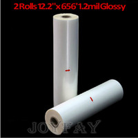 Wholesale 2 Rolls quot x mil Glossy Hot Laminating Film quot Core Laminate