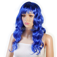 Wholesale Hot Sales Fashion New Sexy Womens Long Curly Full Hair Wig Party Cosplay Fancy Dress Costume Wigs Color Fx200