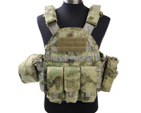 Wholesale Airsoft Tactical Outdoor CS D Nylon Style Plate Carrier Vest Cycling Safety Clothing Army Combat Vest Gear A TACS FG
