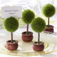 Envío libre 300pcs / lot favor de la boda del árbol del Topiary Fotográfico y de la tarjeta del lugar de la boda Holder decoración de la mesa # K08006