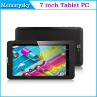7 pouces appel téléphonique Tablet PC Dual Core MTK8312 1,2 GHz 3G WCDMA / 2G GSM Android 4.4 GPS bluetooth Wifi OTG Dual Camera Hot vente Noël 002292