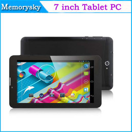 Tablette 3g appel en Ligne-7 pouces appel téléphonique Tablet PC Dual Core MTK8312 1,2 GHz 3G WCDMA / 2G GSM Android 4.4 GPS bluetooth Wifi OTG Dual Camera Hot vente Noël 002292