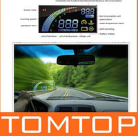 Wholesale Ifound Universal ActiSafety Multi Car HUD Vehicle mounted Head Up Display System OBD II Fuel Consumption Overspeed Warning