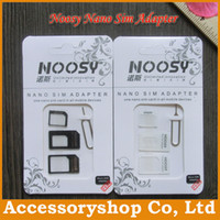Wholesale NOOSY Nano Sim Micro Sim Standard Sim Card Convertion Converter Nano Sim Adapter Micro sim Card For All Mobile Devices Free Post