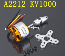 Wholesale New A A2212 KV T Brushless Outrunner Motor W Mount RC Aircraft KK Axis Multi Quad copter UFO