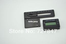 Wholesale LCD display Digital Pitch Gauge Blades degree angle for align RC heli