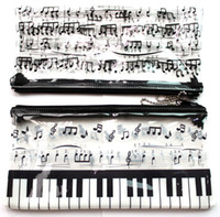 pen pouch - New Piano music notation Transparent creative pencil case cute pencil pouch cute pen bag Stationery Bags Gift