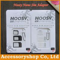 Wholesale NOOSY Nano Sim amp Micro Sim amp Standard Sim Card Convertion Converter Nano Sim Adapter Micro sim Card For All Mobile Devices Free DHL