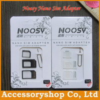 Wholesale NOOSY Nano Sim amp Micro Sim amp Standard Sim Card Convertion Converter Nano Sim Adapter Micro sim Card For All Mobile Devices iPhone DHL