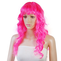 Wholesale 20pcs Fashion New Sexy Womens Long Curly Full Wig Party Cosplay Fancy Dress Costume Wigs Color fx200