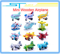 Wholesale 2014 New wooden mini airplane models kit wood plane baby learning amp education toys gifts for children Kids hot
