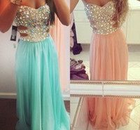 strapless crystal Beaded Bodice beach party dresses 2014 Min...