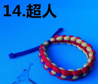 Wholesale hot Custom shoe laces NBA AJ burst bracelet bracelet RastaClat