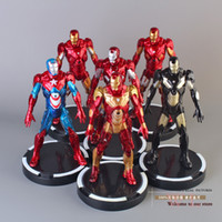 Roles avengers collection set - Super Heroes The Avengers Iron Man PVC Action Figure Collection Model Toys Dolls set HRFG175