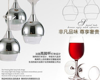 bedroom lamp sets - New Chandeliers set Wine Glass Pendant Light Hanging Lighting Ceiling Lamp Chandelier Pendant Lamps E14 Bulb Light Ceiling Light Lamps