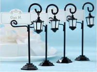 Wholesale New Cheap Unique Bourbon Street Streetlight Place Card Holder Wedding favors with matching card K08009