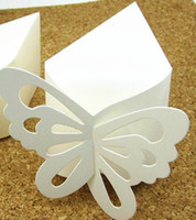 Favor Boxes Ivory Paper 100pcs (5.3*3* 2.4inches) Ivory Butterfly Candy Cake Box, DIY Cheap Wedding Favor Boxes,wedding cake boxes