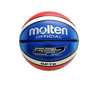 Wholesale Hot Sell Foreign Trade Promation Molten Basketball GP76 Size basketball PU Material Free with Net Bag Pins