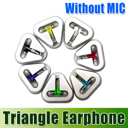 Wholesale DHL Fast Shipping Triangle Earphone Clear Retail Box Earphone mm for IPhone S C S iPod iPad Samsung