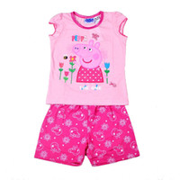 Wholesale 2014 Summer new girls cartoon pig Pepe s children s PEPPA PIG tracksuit