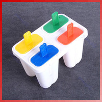 Stainless Steel 06D1305 Ice Cream Tools Mini Ice Cream Frozen 4Pcs Popsicle Maker Mold Icepop Block Icy Pole Lolly DIYFree Shipping wholesale retail
