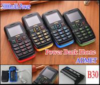 admet big blue flashlight - Dual Sim mAh Power Bank Phone Original ADMET B30 mAh Big Battery Speaker Flashlight Dual Sim Old Man People Senior Phone