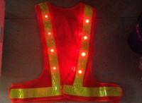 Wholesale LED V shape reflective vest Lattice reflective vest mesh cloth vest