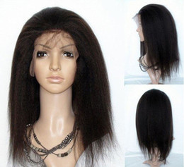 Black woman kinky straight full lace wigs natural color indian remy virgin human hair natural hair line
