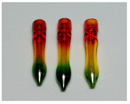 Wholesale Glass One hitter Rasta quot assorted color from USA via usps