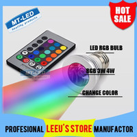 Spotlight color changing led bulb - X100 DHL Color changing RGB LED Lamp W E27 E14 RGB LED Bulb Light Spotlight down light with Remote Control lighting lights