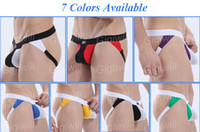 Men Cotton G-Strings & T-Back & Thongs Mens Cotton G-String Thongs Sexy Hole Underwear Jockstrap Briefs Open Designed Shorts Men Panties Underpants Size S M L