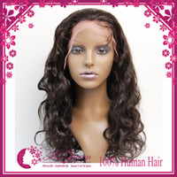 Wholesale 100 human hair body wave virgin hair lace front wigs and full lace wigs density brazillian human hair extensions inch Darkest Brown