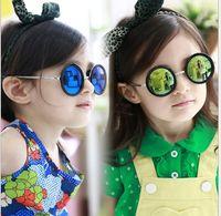 Wholesale Multicolor Children Sunglasses Kid Baby Fashion Metal frame Sunglasses Girl s UV polarizing glasses S0514