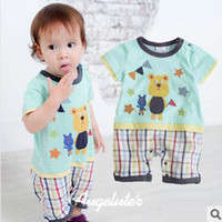 baby sleepsuits - Hot Sale Kids Rompers Summer Fashion Children Rompers Bear Printing Sleepsuits High Quality Baby Rompers