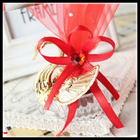 acrylic favor box - Acrylic Silver Golden Swan Candy Box Wedding Gift Jewely Candy Favor Sweetbox Candy Package New Novelty Wedding Favors holders High Quality