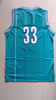 Wholesale Top Quality Men s Swingman Basketball Jerseys Alonzo mourning Green Throwback Embroidery Logo Mix Order