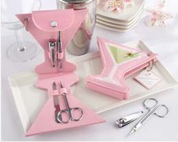 Envío libre 100 pedazos de Pink Martini Set de manicura pedicura favor de la boda la fiesta de bienvenida Favores de fiesta # K08015