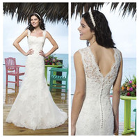 Sheath/Column Reference Images Sweetheart 2014 Sincerity 3770 Summer Beach Wedding Dresses Off The Shoulder Sweetheart Appliqued Sweep Train Lace Long Bridal Gowns D513