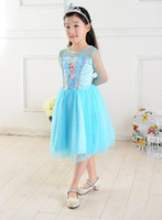 Wholesale Frozen Queen Elsa Dress Prince Dress New girls Summer Party Dresses Baby Clothes Kids Clothing
