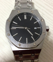 Wholesale 2014 new style men dress glass back automatic movement mechanical stainless steel offshore original clasp