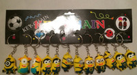 Wholesale Despicable Me Key chain Movie Anime Minion toys Figure Pendants